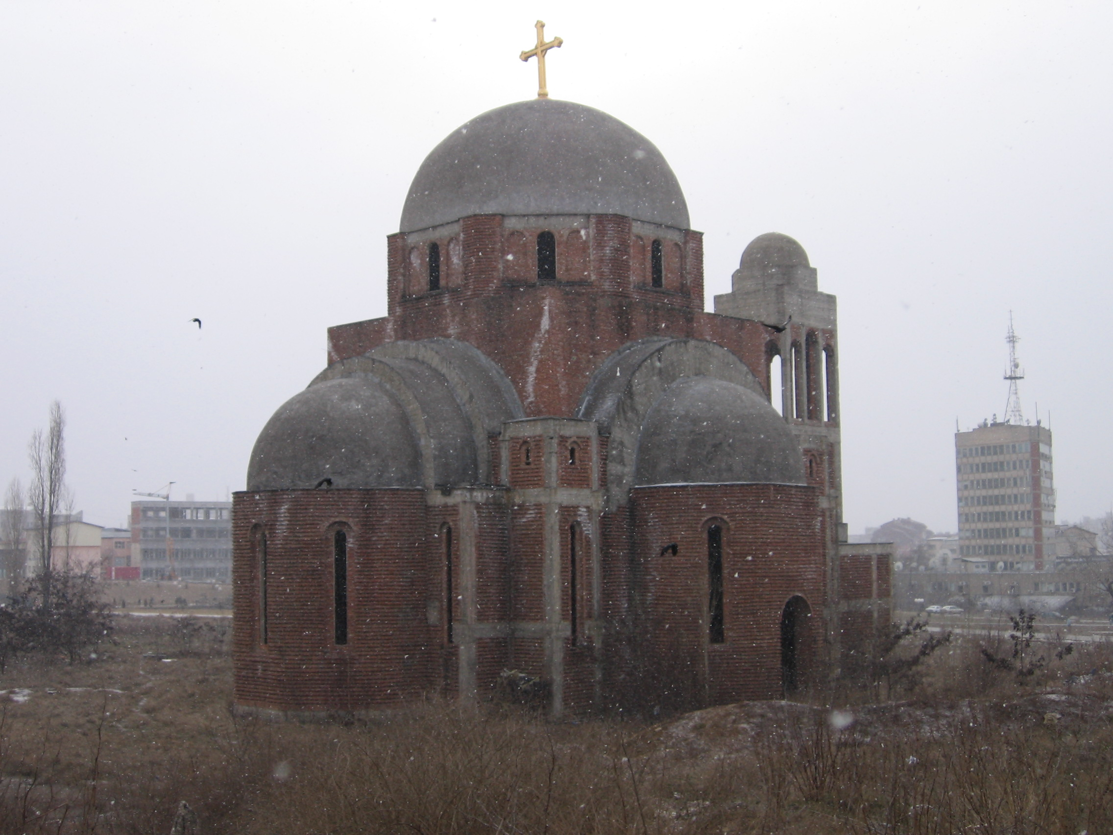 Serb Orthodox Church, Pristina (Photo: Simon Roughneen)