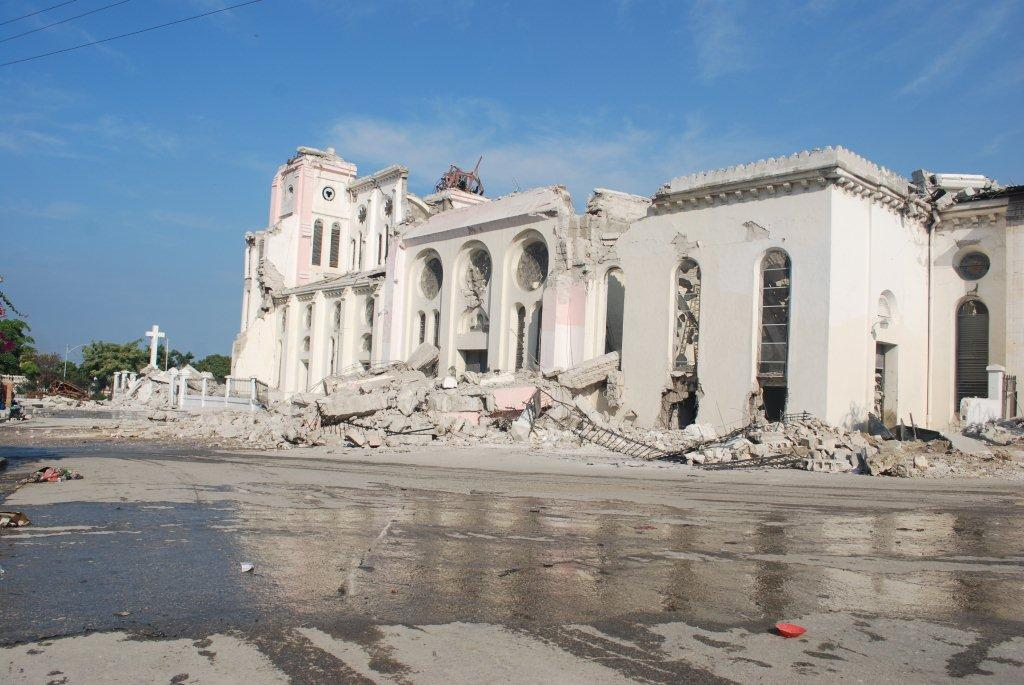 After the disaster: Notre Dame Cathedral, Port au Prince (Simon Roughneen