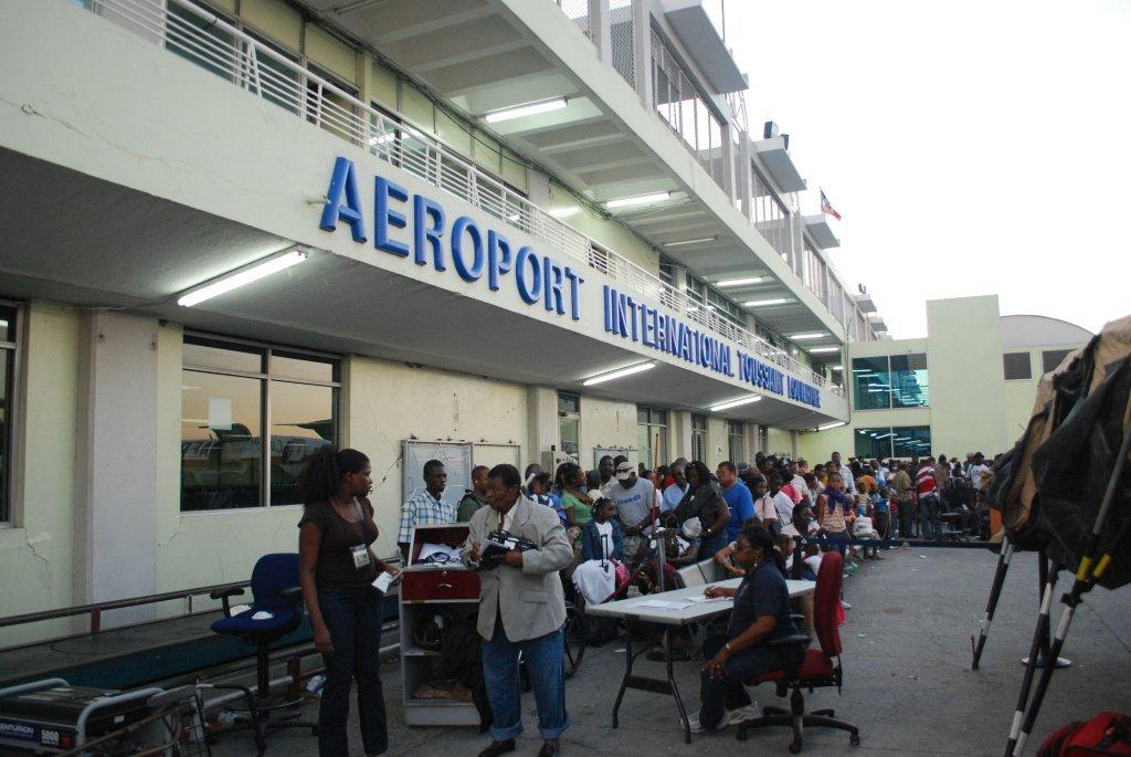 Haitian refugees await flight to Canada at Port-au-Prince's international airport (Photo: Simon Roughneen)