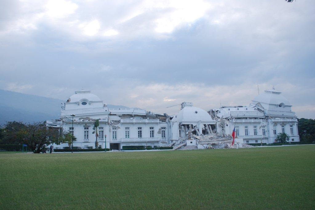 Destroyed presidential palace in Port-au-Prince (Photo: Simon Roughneen)