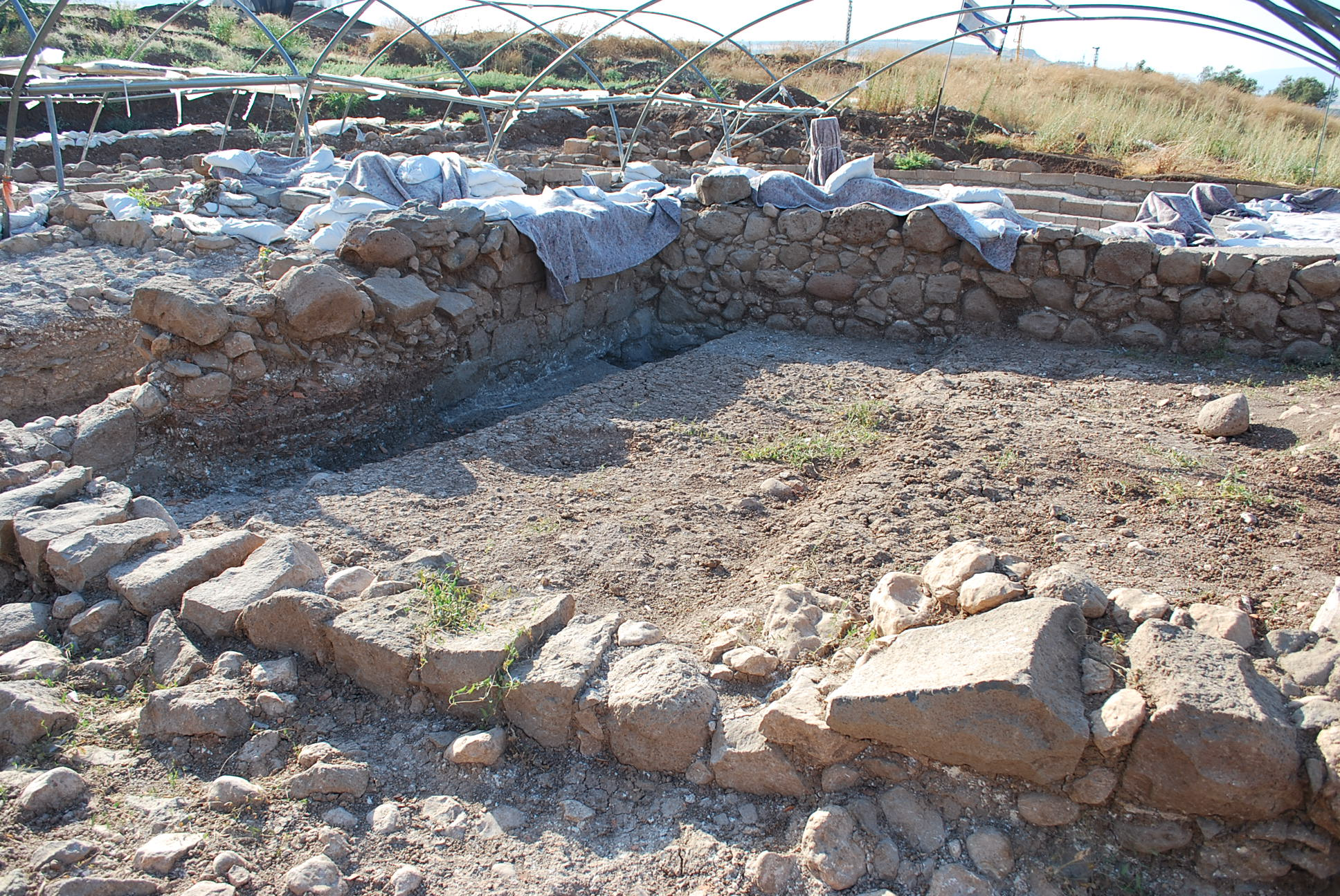 Synagogue dig at Magdala. (Photo: Simon Roughneen)