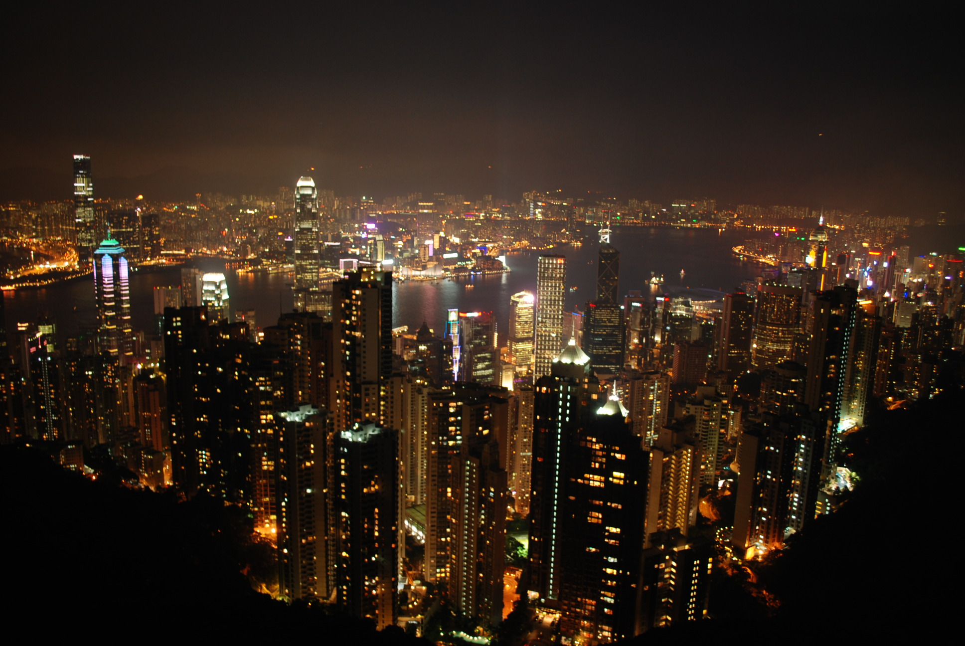 Hong Kong's skyline at night (Photo: Simon Roughneen)