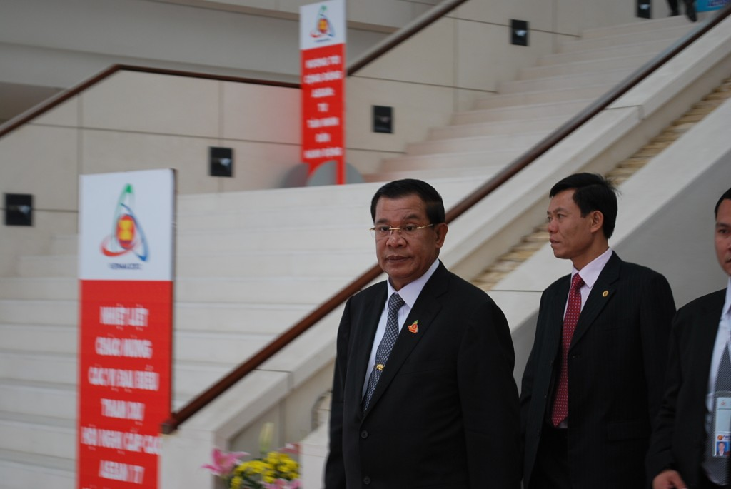 Hun Sen, Cambodia's PM , at the ASEAN summit in Hanoi in late 2010 (Photo: Simon Roughneen)