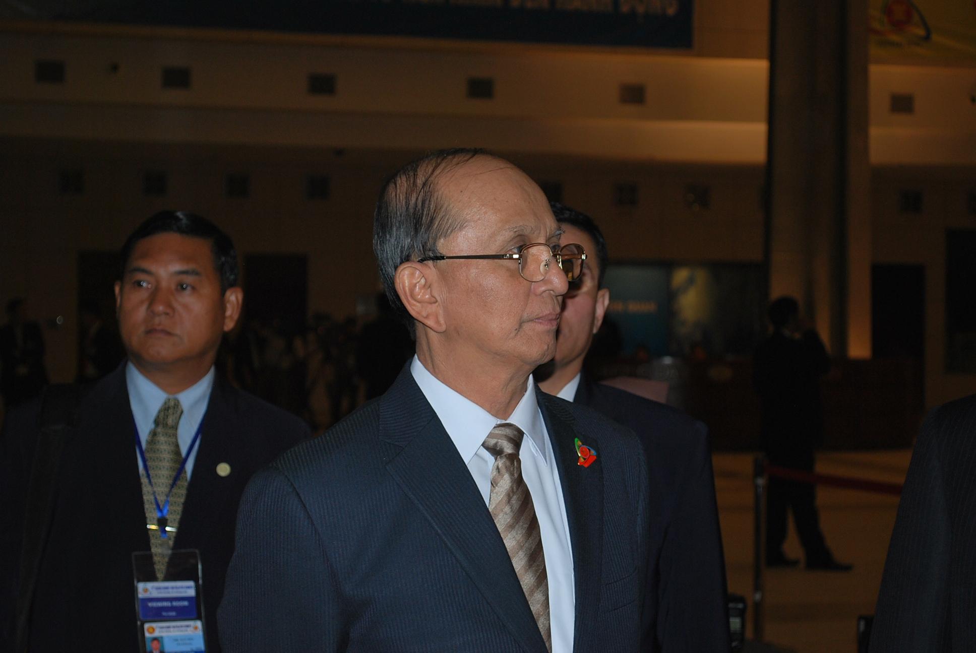 Burmese PM Thein Sein at the recent ASEAN summit in Hanoi (Photo: Simon Roughneen)