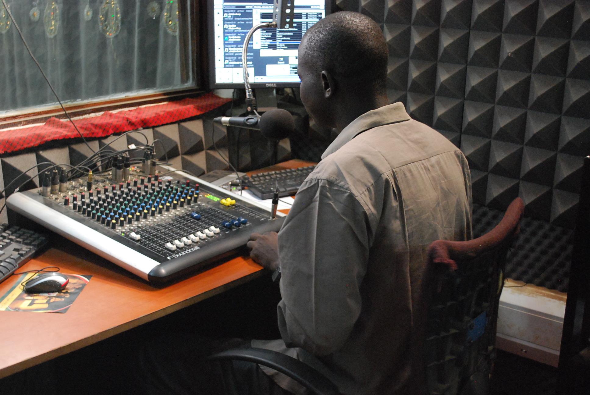 Inside Radio Bakhita (Photo: Simon Roughneen)