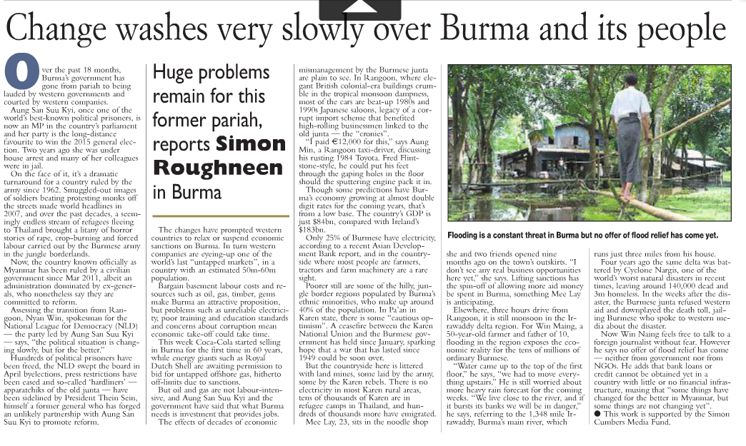 Scan of the print version of the Examiner article.