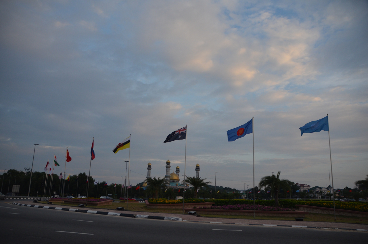 Bandar Seri Bagawan, Brunei's quiet capital, played host to a major international summit this week. Visitors would have been wise to bring their own cigarettes. (Photo: Simon Roughneen)