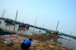 Harbour at Thay Chaung, inside a Muslim ghetto on the outskirts of Sittwe (Photo: Simon Roughneen)