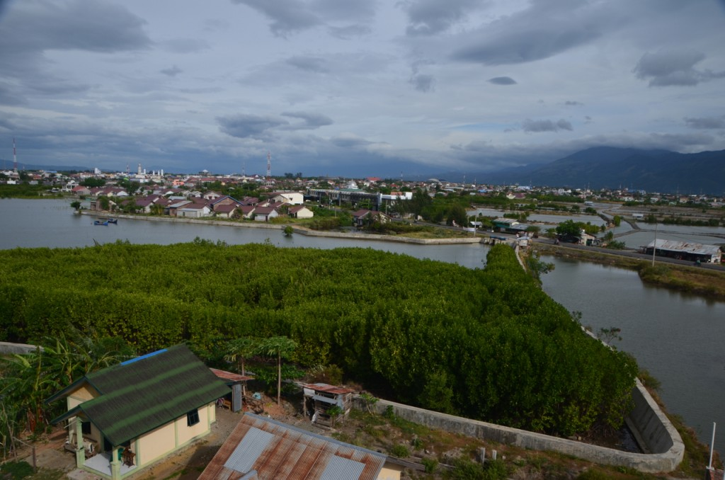 View of Banda Aceh from tsunami evacuation tower, built on the coast after the 2004 disaster (Photo: Simon Roughneen)