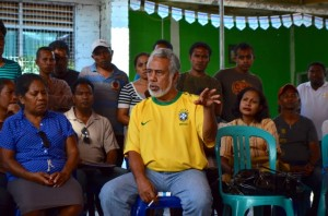 Xanana Gusmao speaks to supporters after winning 2012 election in East Timor (Photo: Simon Roughneen)