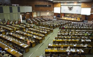 The Indonesian parliament just before the start of a recent debate on direct local elections (Photo: Simon Roughneen)