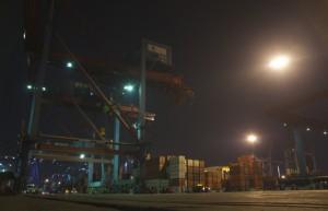 At Jakarta's Tanjung Priok port (Photo: Simon Roughneen)