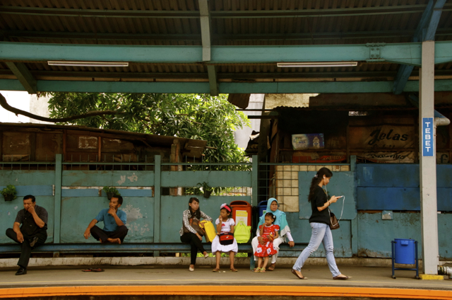 Train station in Jakarta. Indonesia's government is keen to upgrade the country's transport infrastructure (Photo: Simon Roughneen)