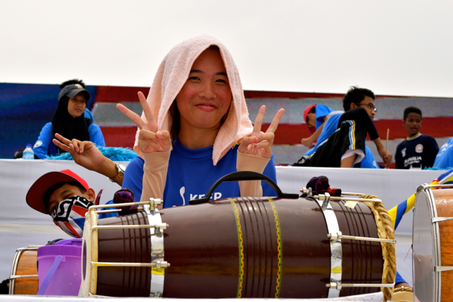 Students rehearsing for Malaysia's independence day celebrations (Photo: Simon Roughneen)