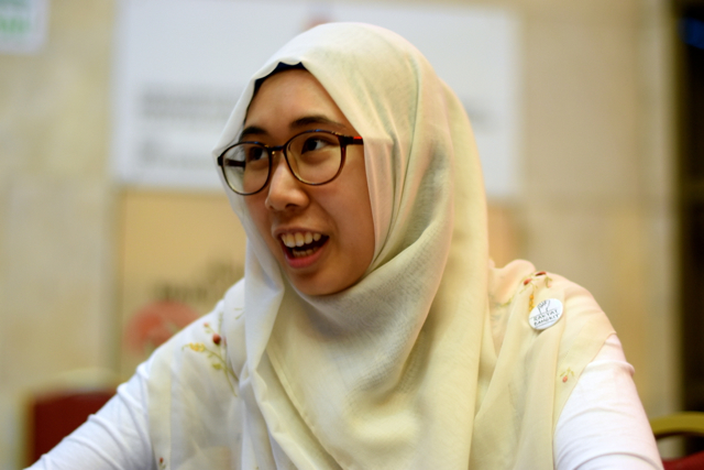 Nurul Hana Anwar at launch of her new book on Aug 27 (Photo: Simon Roughneen)