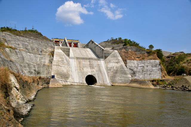 The Chinese-backed Jatigede dam, a major new infrastructure project, in West Java, on Aug. 1 2015 (Photo: Simon Roughneen)