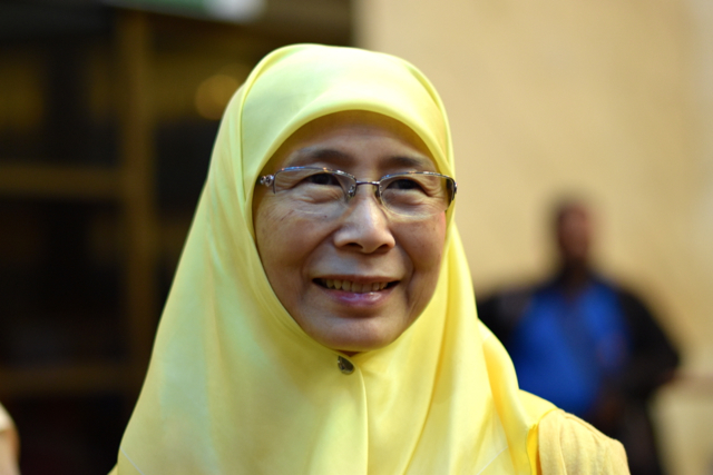 Wan Azizah Ismail, wife of jailed opposition leader Anwar Ibrahim (Photo: Simon Roughneen)