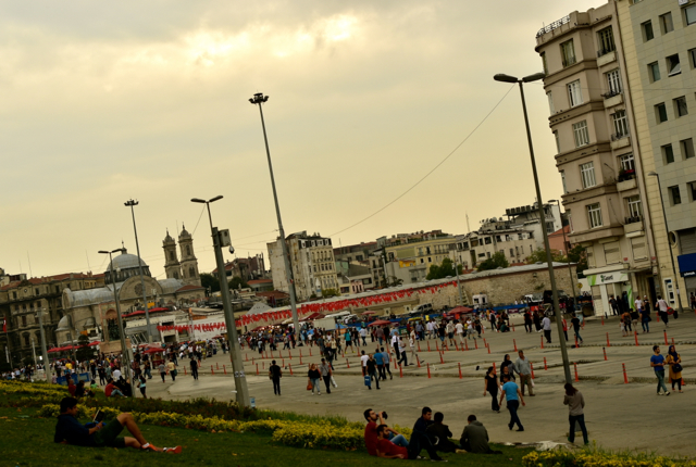 Gezi Park in Istanbul, scene of massive protests in mid 2013 which prompted a harsh crackdown by the Erdoğan government (Photo: Simon Roughneen
