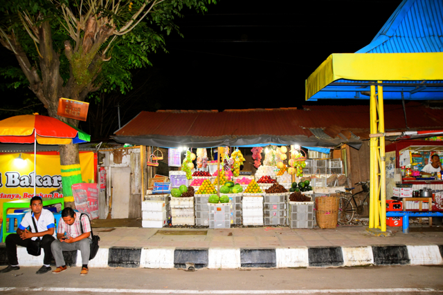 Night time in Pekalongan in central Java (Photo: Simon Roughneen)