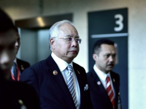Malaysia Prime Minister Najib Razak at the ASEAN and related summits on Nov. 21 2015 (Photo: Simon Roughneen)
