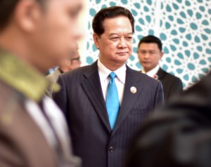 Nguyễn Tấn Dũng, Vietnam's Prime Minister, at the ASEAN and related summits in Kuala Lumpur on Nov. 22 2015 (Photo: Simon Roughneen)