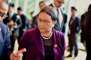Retno Marsudi, Indonesian Foreign Minister, at the ASEAN Summit in Kuala Lumpur (Photo: Simon Roughneen)