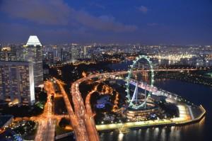 Singapore skyline over Marina Bay (Simon Roughneen)