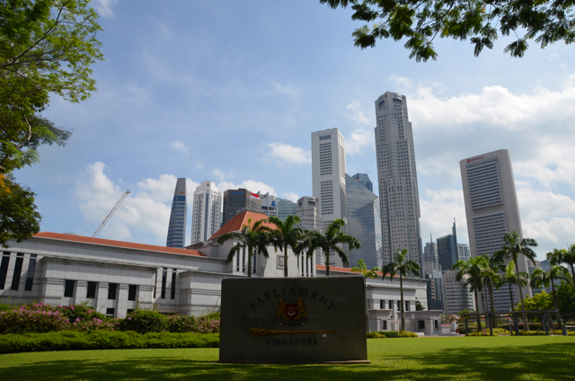 The Singapore parliament will resume on Jan. 15, with the impact of the China slowdown on the local economy likely to be a key focus for lawmakers. (Photo: Simon Roughneen)