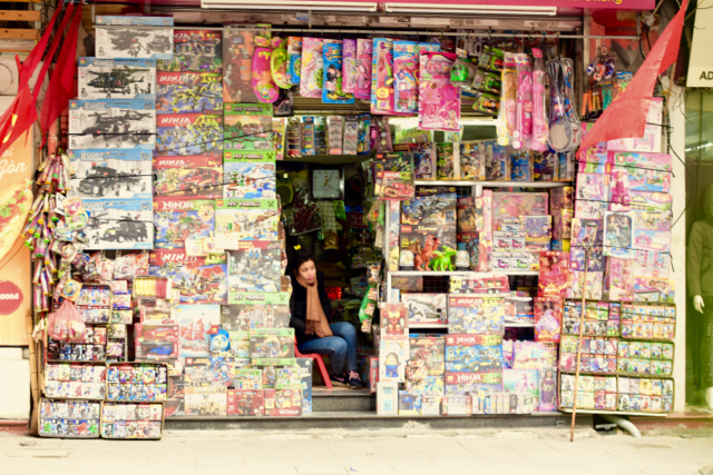 Shopfront in downtown Hanoi (Photo by Simon Roughneen)