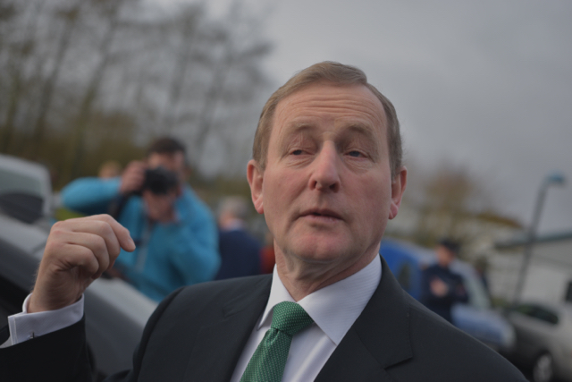 Enda Kenny after voting in Castlebar on Feb. 28 2015 (Photo: Simon Roughneen)