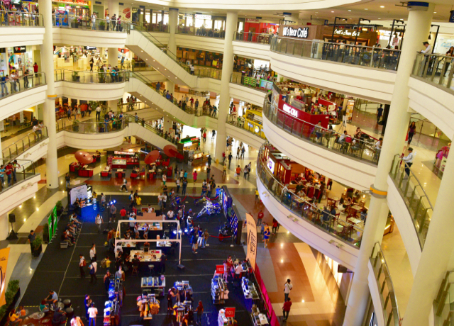Inside the Robinsons mall in Malate, Manila (Photo: Simon Roughneen)