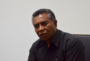 East Timor Prime Minister Rui Araujo during a March 2015 interview with the Nikkei Asian Review at government headquarters in Dili (Photo: Simon Roughneen)