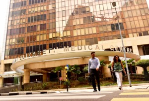 Mount Elizabeth Medical Center in Singapore (Photo: Simon Roughneen)