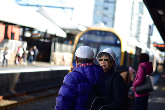 Burwood train station in Sydney. Australians of Asian descent and other minorities not descended from British settlers are a growing percentage of the Australian population (Photo: Simon Roughneen)