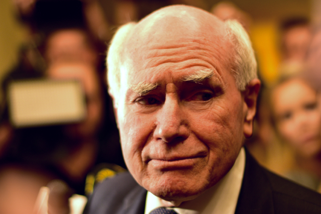 Former Australian Prime Minister John Howard in Sydney on July 2 (Photo: Simon Roughneen)
