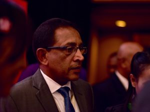 Kabir Hashim, Sri Lanka's Minister of Public Enterprise Development, at the World Islamic Economic Forum in Jakarta on Aug. 2 (Photo: Simon Roughneen)