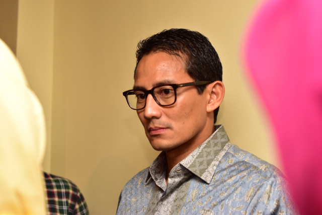 Sandiaga Uno pictured at the World Islamic Economic Forum in Jakarta in Aug. 2016 (Photo: Simon Roughneen