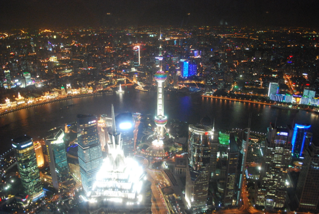 Shanghai at night. The Chinese megacity has become one of the world's retail hubs (Photo: Simon Roughneen)