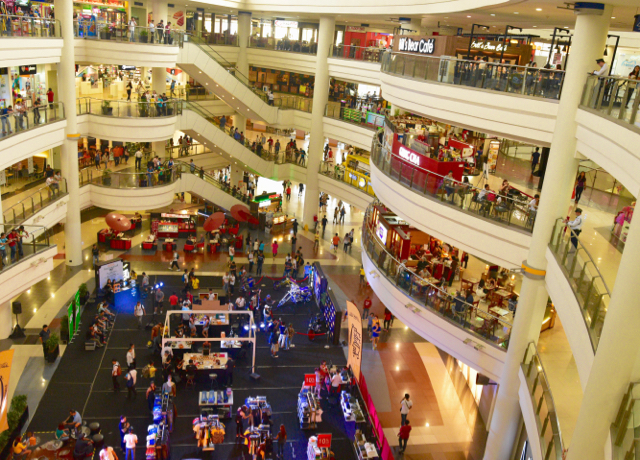 Inside a Robinsons outlet in Manila, where malls are a central part of urban life (Photo: Simon Roughneen)