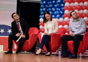 Participants at a discussion at a US embassy election event in Jakarta on Nov. 9 (Photo: Simon Roughneen)