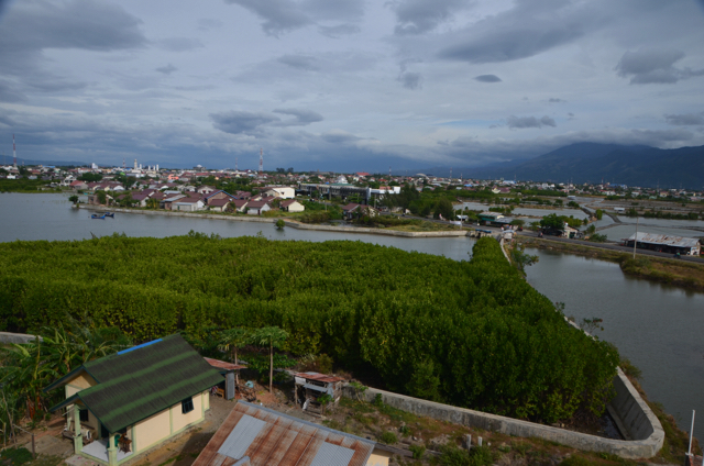 View of Banda Aceh from tsunami evacuation tower, built on the coast after the 2004 earthquake off Sumatra (Simon Roughneen)
