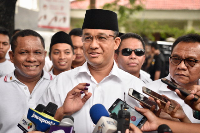 Anies Basdewan, a former education minister, will face Purnama in an April 19 run off election (Photo: Simon Roughneen)