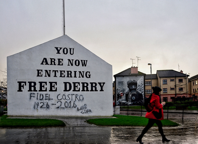 Political murals marking the city's history are a common sight in Derry, Northern Ireland (Photo: Simon Roughneen)