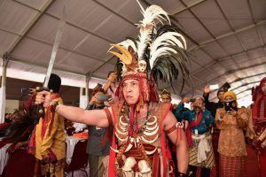Traditional regalia on display at Tanjung Gusto in North Sumatra (Photo: Simon Roughneen)