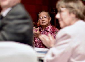 Indonesia's co-ordinating minister for economic affairs Darmin Nasution at a recent business conference in Jakarta (Photo: Simon Roughneen)