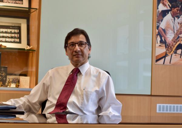 Nilanjan Sen, associate dean, Graduate Studies, at work in his office at Nanyang Business School (Simon Roughneen)