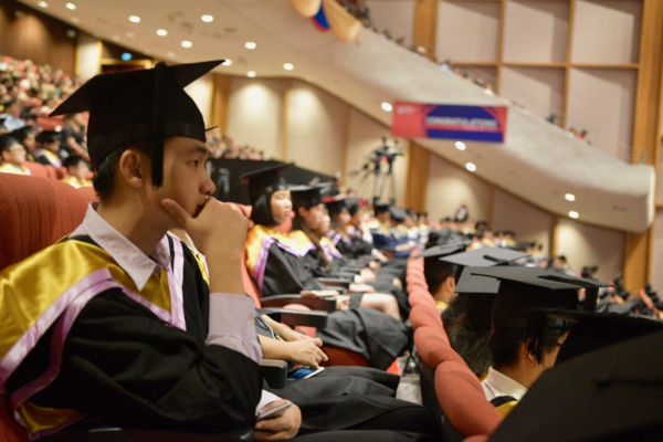 Convocation ceremony taking place at NTU in Singapore (Photo: Simon Roughneen)