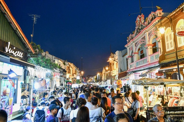 Crowds pack Jonker Street on a typically-thronged Friday evening during the popular night market (Simon Roughneen)