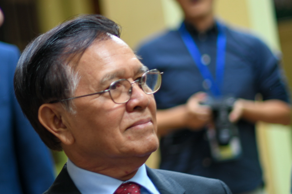 Kem Sokha seen at his house in Phnom Penh after meeting U.S. ambassador W. Patrick Murphy on Nov. 11. 2019 (Simon Roughneen)