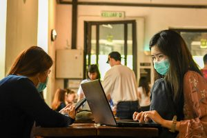 With concerns growing about the possible spread of Novel Coronavirus, facemasks are an increasingly-common sight in cities such as Kuala Lumpur (Simon Roughneen)
